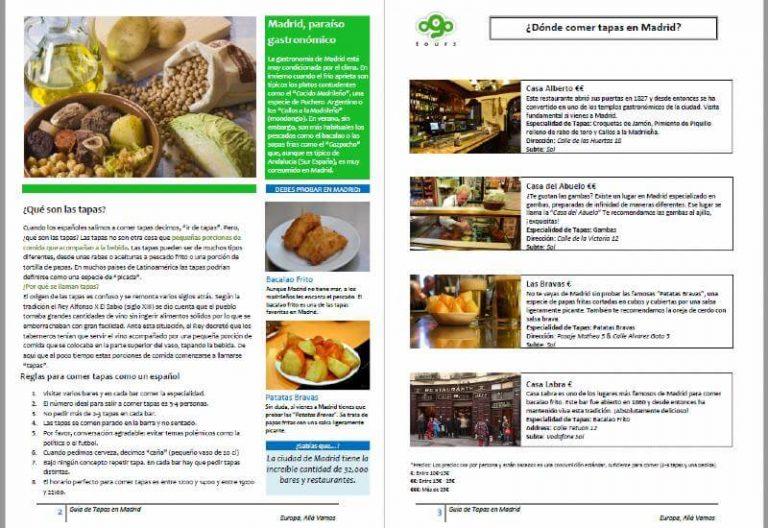 Guia de tapas Madrid pdf Descargar
