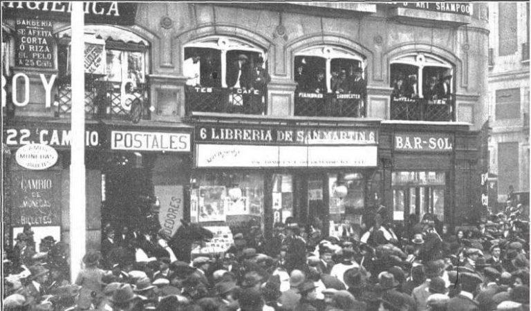 Foto antigua de la Puerta del Sol