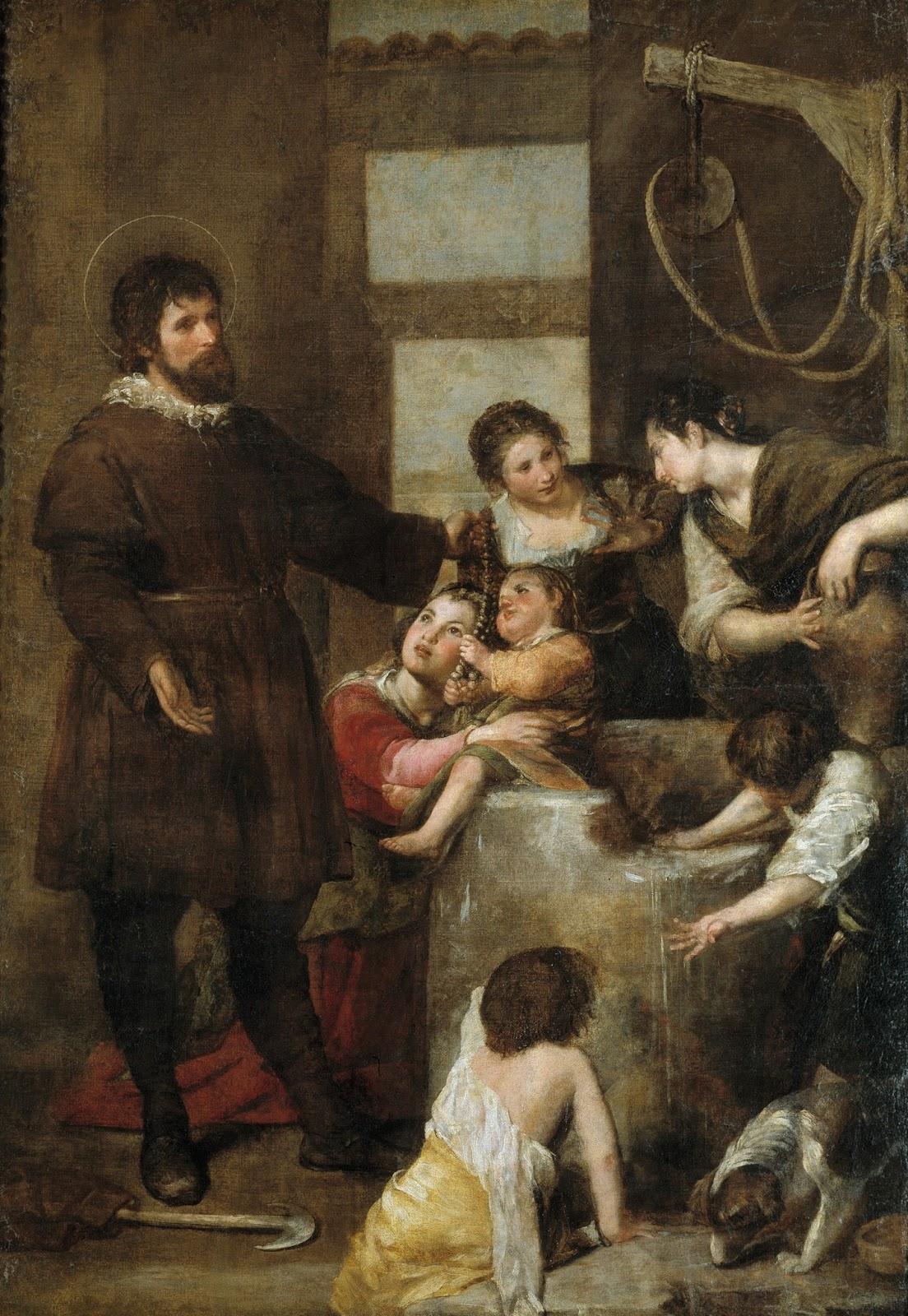 """""""El Milagro del Pozo"""" pintado por Alonso Cano en 1638"""