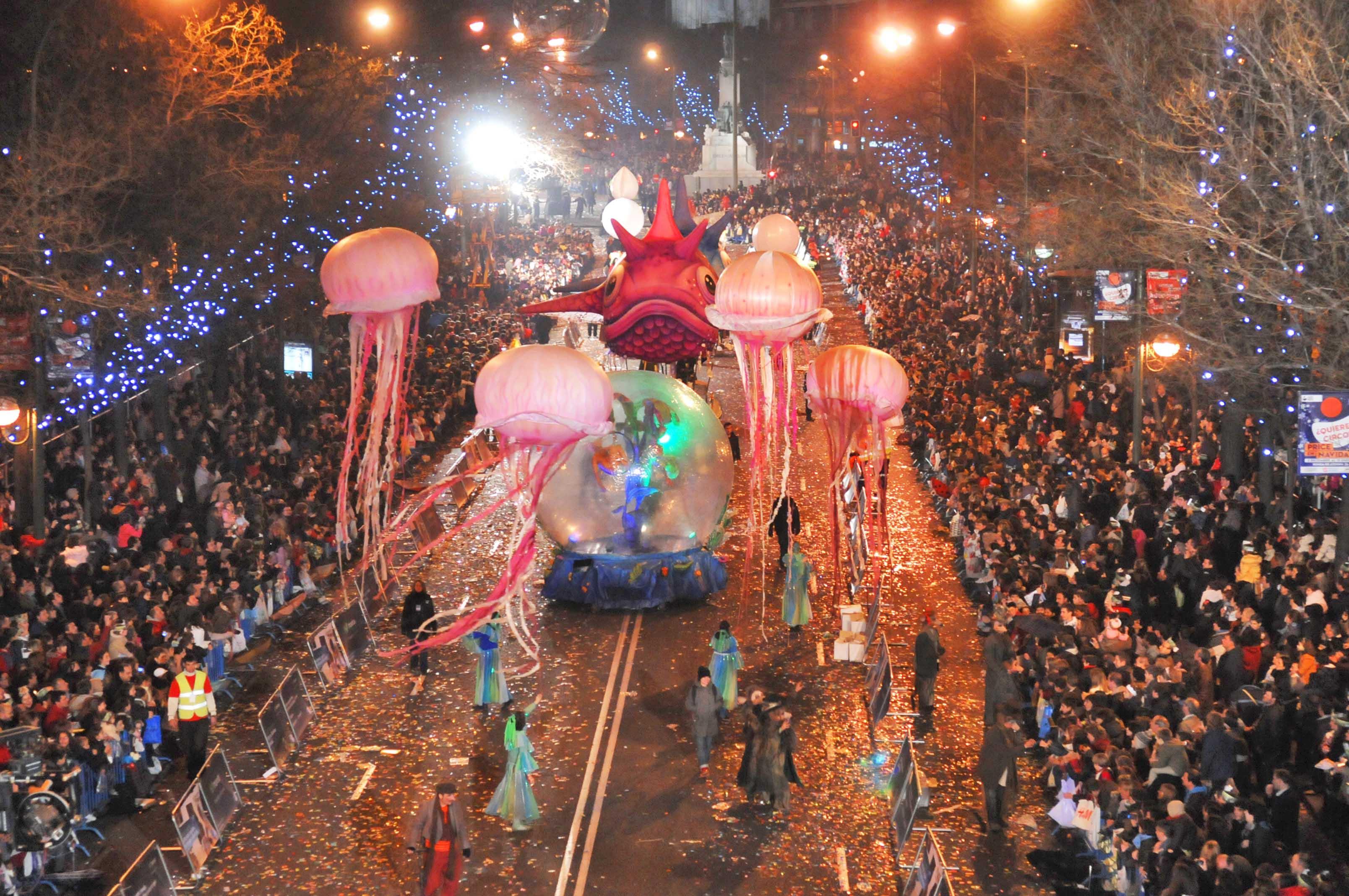 El 5 de Enero la ciudad se colapsa con la llegada de los Reyes Magos de Oriente a Madrid