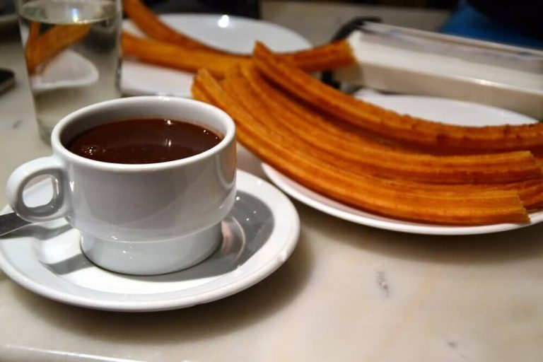 Chocolate con churros lluvia Madrid